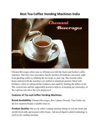 Best Tea Coffee Vending Machines India