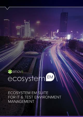 EcoSystemEM: IT Test Environment Management Glossie - Enov8