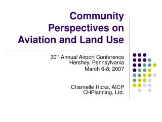 Community Perspectives on Aviation and Land Use