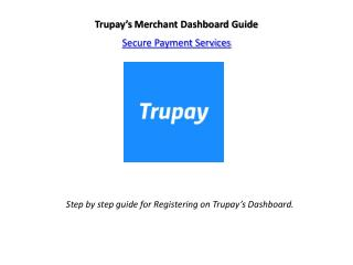 Registration Process for Merchant - Trupay