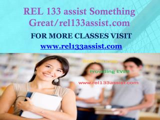 REL 133 assist Something Great/rel133assist.com