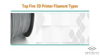 Top Five 3D Printer Filament Types