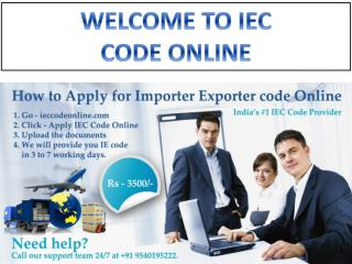 IEC Code in Delhi || IEC Code online