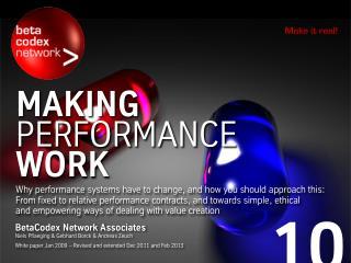 Making Performance Work (BetaCodex10)