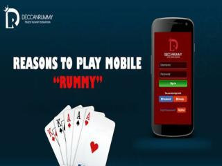 Reasons to choose mobile rummy