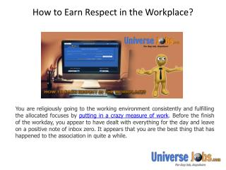 How to Earn Respect in the Workplace?