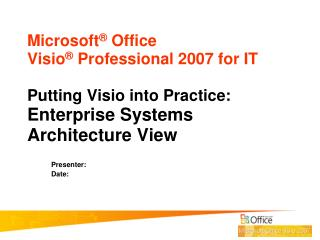 Enterprise Systems Architecture View PowerPoint