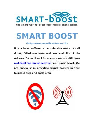 Mobile Phone Signal Boosters - Smart Boost