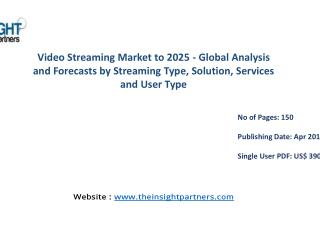 Video Streaming Market is bound to Exhibit Comprehensive Growth |The Insight Partners