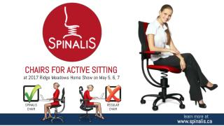 SpinaliS Chairs for Active Sitting at 2017 Ridge Meadows Home Show on May 5, 6, 7