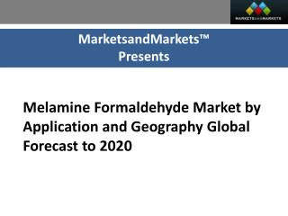 Melamine Formaldehyde Market by Application