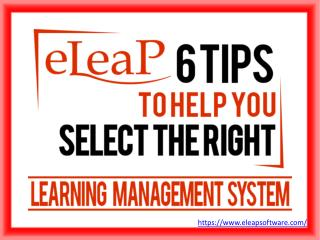 6 Tips to help you select the right Learning Management System