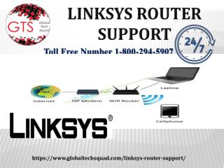 Linksys Router Support  Toll Free | 1-800-294-5907
