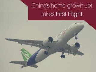 China's home-grown jet takes first flight
