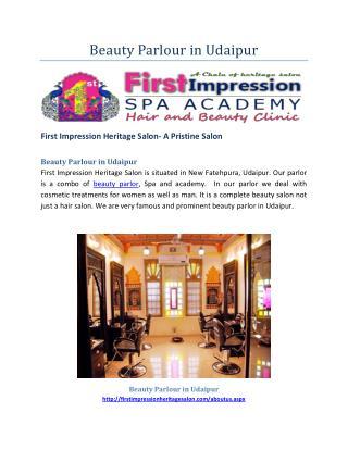 Beauty Parlour in Udaipur-Best Parlour