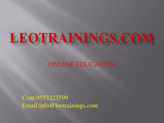 Informatica Training & Certification - Live Classes Etl, Informatica in Hyderabad | leotrainings
