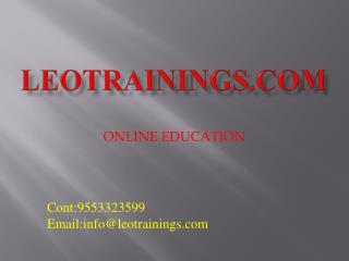 Informatica Training & Certification - Live Classes Etl, Informatica in Hyderabad | leotrainings