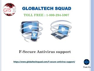 F-secure Online Services Support Toll Free 1-800-294-5907