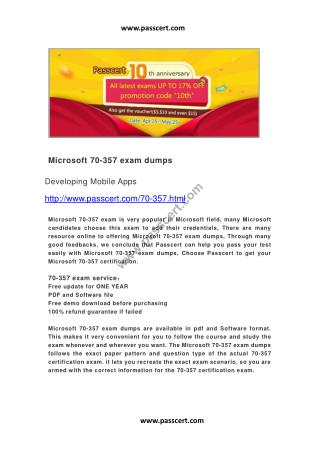 Microsoft 70-357 exam dumps