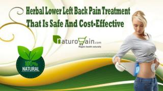Herbal Lower Left Back Pain Treatment That Is Safe And Cost-Effective