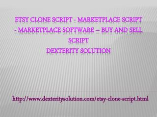 Etsy clone Script - Marketplace script - Marketplace software