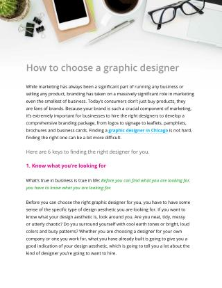 How to choose a graphic designer