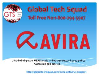 Avira Antivirus Support Number 1-800-294-5907(USA)