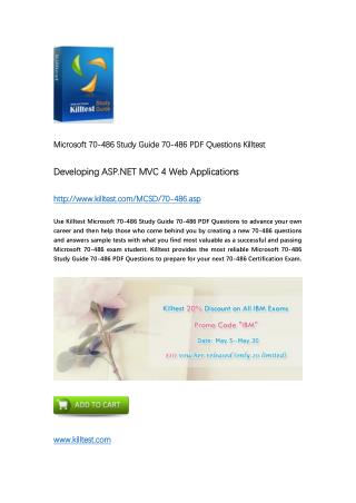 Killtest 70-486 Microsoft Real Questions