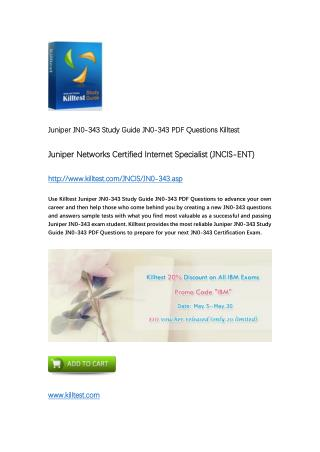 Killtest JN0-343 Juniper Real Questions