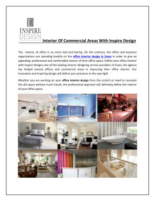Interior Of Commercial Areas With Inspire Design