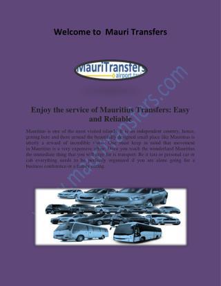 Mauritius Transfers, Mauritius Taxi Services