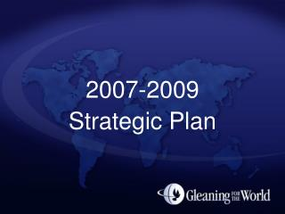 2007-2009 Strategic Plan
