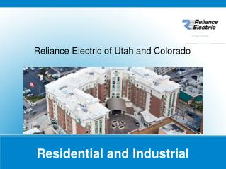 Reliance Electric of Utah and colorado
