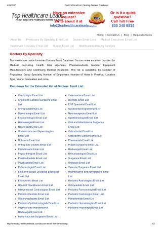 Get Responsive Doctors Mailing List