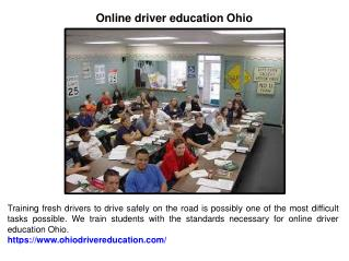 Online driver education Ohio