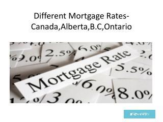 Different mortgage rates canada alberta b.c