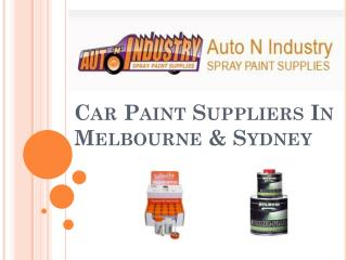 Car Paint Suppliers In Melbourne