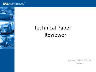 Technical Paper      Reviewer