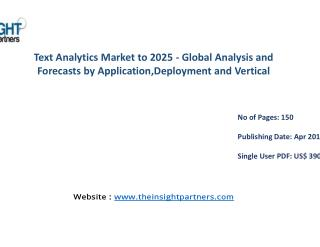 Text Analytics Industry Share, Size, Forecast and Trends by 2025 |The Insight Partners