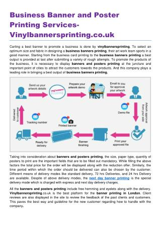 Business Banner and Poster Printing Services Vinylbannersprinting.co.uk