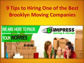 9 Tips to Hiring One of the Best Brooklyn Moving Companies