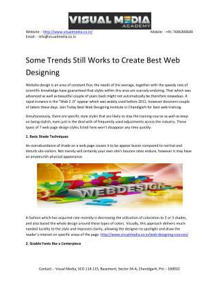 Web Designing Institutes in Chandigarh
