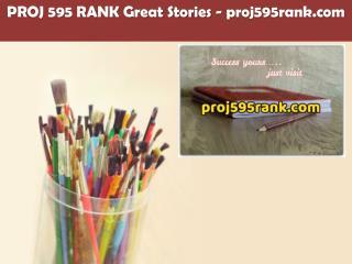 PROJ 595 RANK Great Stories /proj595rank.com