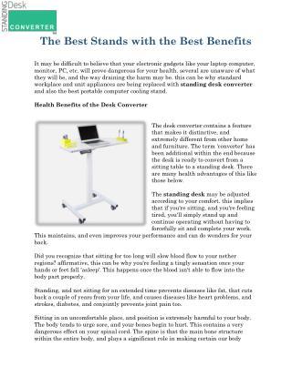 Standing Desk Converter for Laptop
