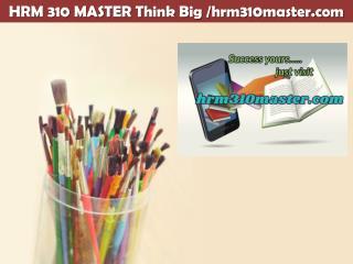HRM 310 MASTER Think Big /hrm310master.com
