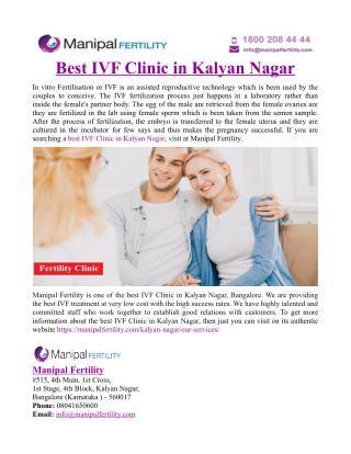 Best IVF Clinic in Kalyan Nagar