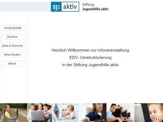 Herzlich Willkommen zur Infoveranstaltung EDV- Umstrukturierung in der Stiftung Jugendhilfe aktiv
