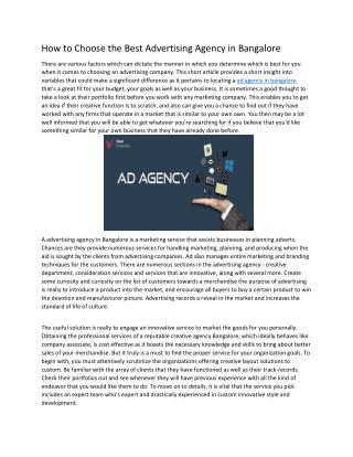 Ad agency bangalore