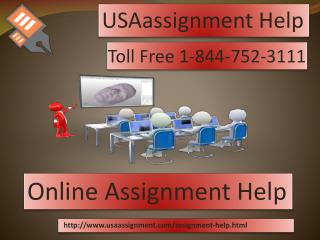 Online  Assignment Help| Toll Free :  1-844-752-3111 |USAassignment