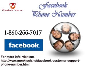 How will I be connect to the experts dialing at Facebook Phone number? 1-850-266-7017